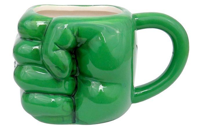Hulk Fist Sculpted Mug