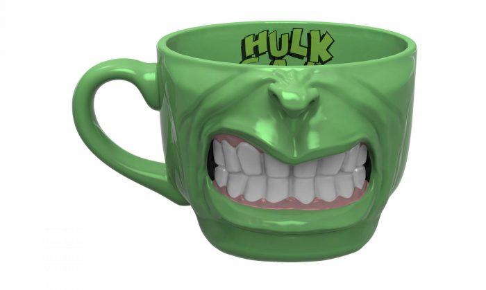 Hulk Half-Face Sculpted Mug