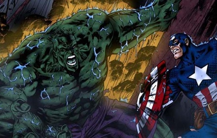 The Incredible Hulk and Captain America