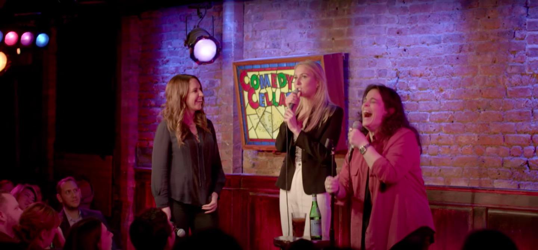Left to right: Rachel Feinstein, Nikki Glaser, Jessica Kirson