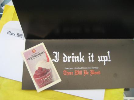 I drink your milkshake card