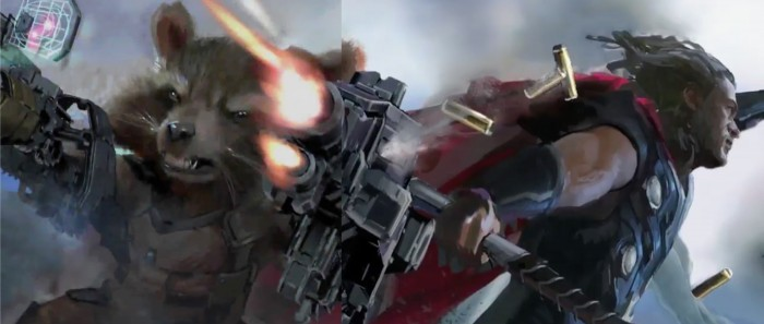 infinity war concept art rocket and thor
