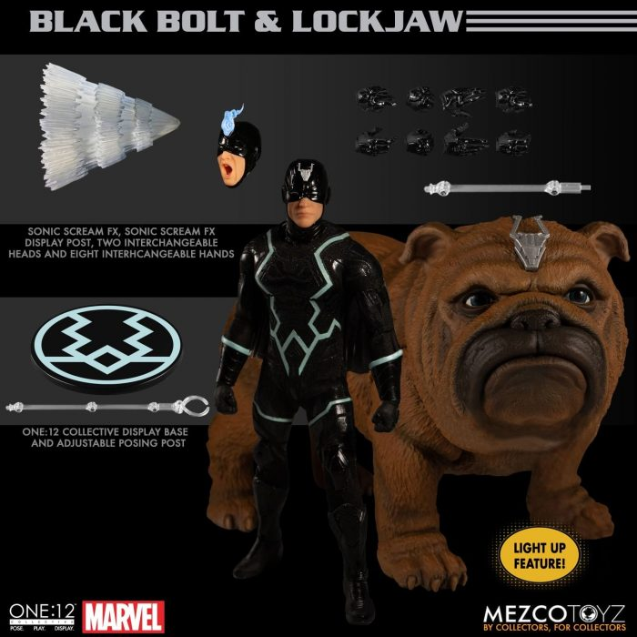 Inhumans - Black Bolt and Lockjaw One:12 Collective Figure