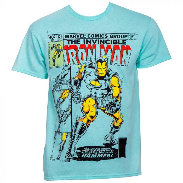 Invincible Iron Man Teal T-Shirt