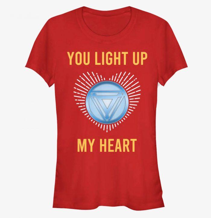 Iron Man - You Light Up My Heart Shirt