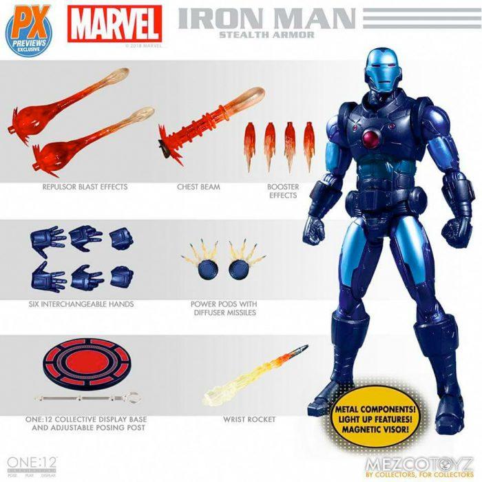 Mezco Toyz One: 12 Collective - Iron Man Stealth Armor