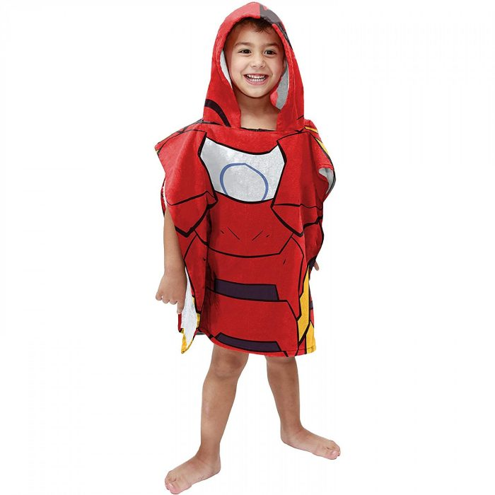Iron Man Youth Hooded Towel Poncho