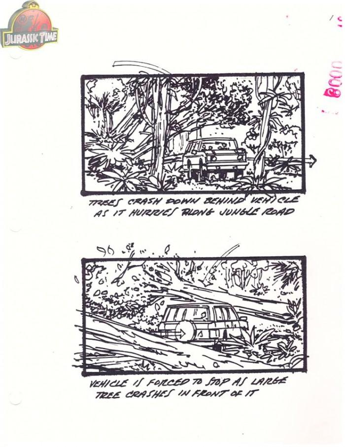 Jurassic Park Alternate Ending Storyboards