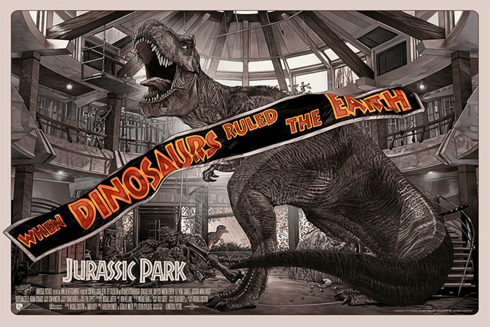 Cool Stuff: Dinosaurs Rule the Earth Again on New 'Jurassic Park' Poster by Juan Carlos Ruiz Burgos