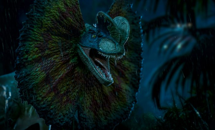 Jurassic Park Statues - Dolophosaurus