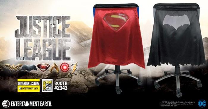 Batman and Superman Chair Capes