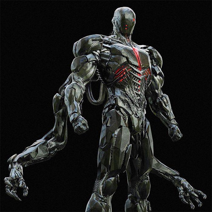 Justice League Concept Art - Cyborg Design