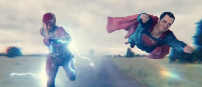 Justice League - The Flash and Superman Race