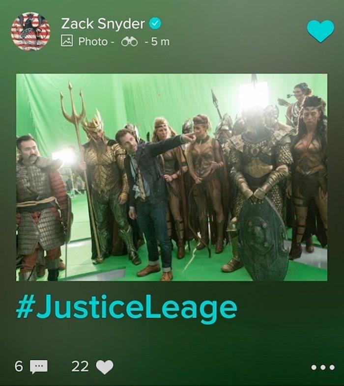 Justice League Set Photo