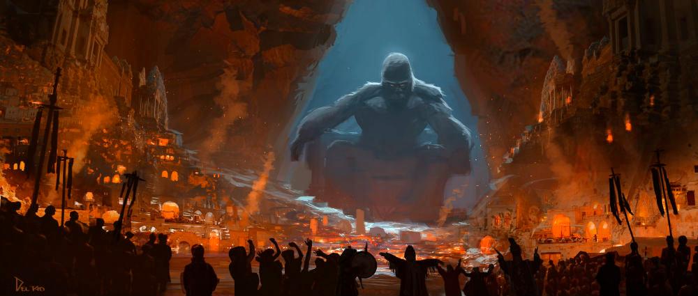 Kong Skull Island Concept Art Features An Ape Who Was