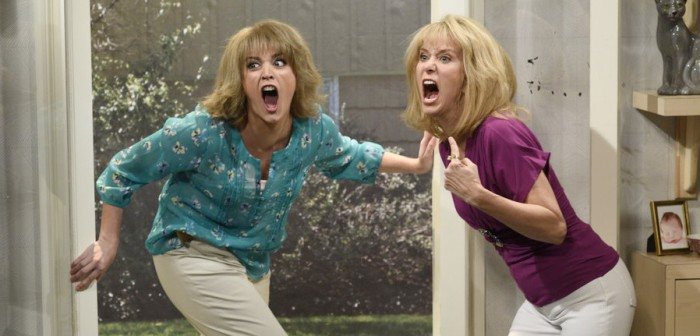 Kristen Wiig and Cecily Strong on Saturday Night Live