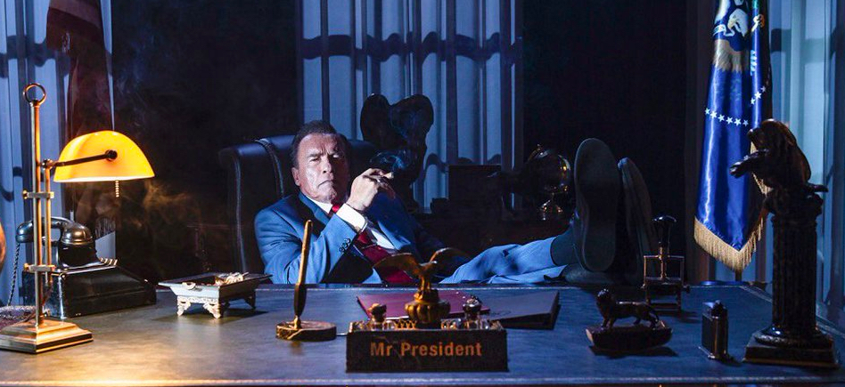 Kung Fury First Look Introduces President Schwarzenegger Film