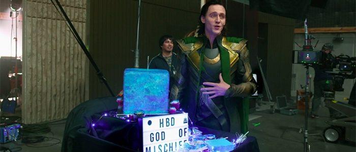 Tom Hiddleston's Birthday on Loki Set