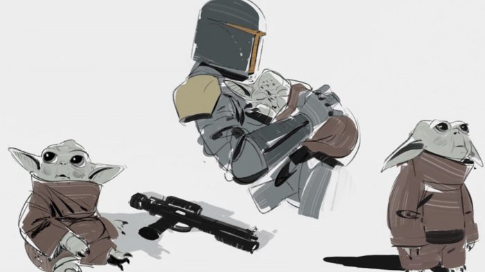 The Mandalorian - Baby Yoda Alternate Designs Concept Art
