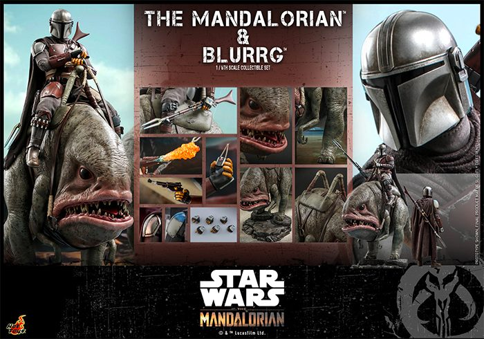 The Mandalorian and Blurrg Hot Toys Figure