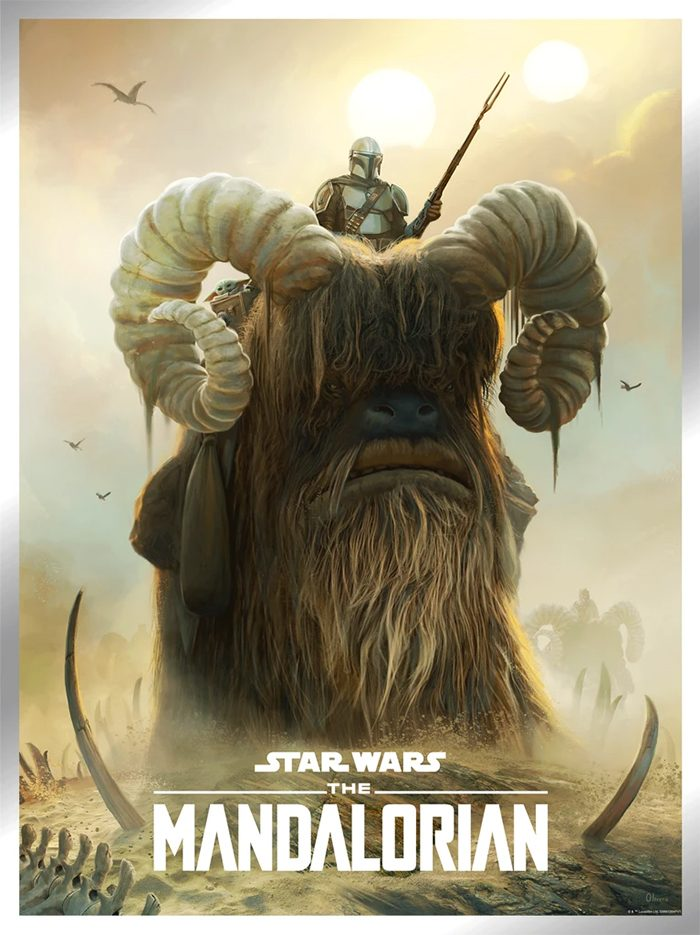 Star Wars Day 2021 Posters - Bantha Ride by Pablo Olivera
