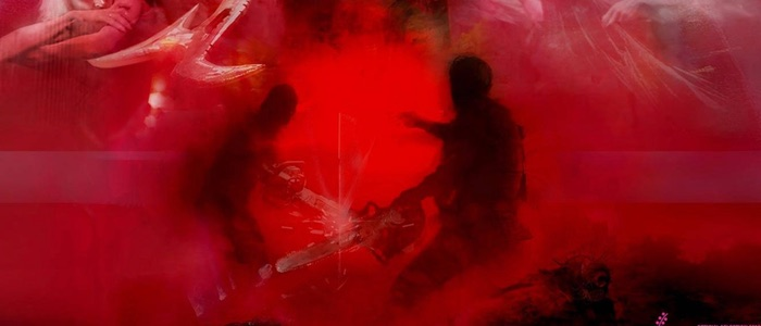 The Mandy Poster Features Nicolas Cage In A Chainsaw Fight