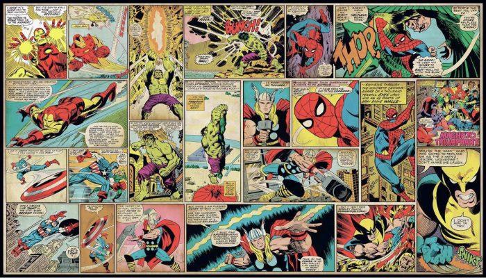 Marvel Comics Panel Mural
