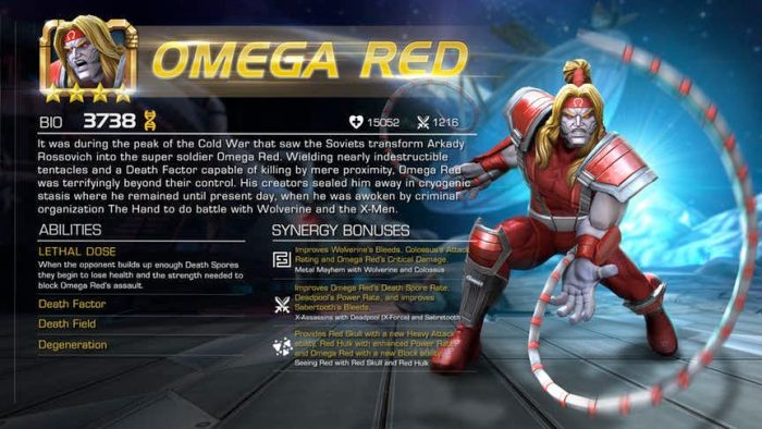 Marvel Contest of Champions - Omega Red