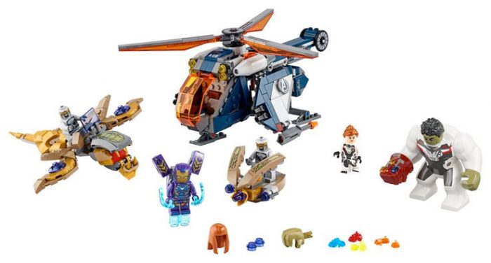 Avengers Endgame - LEGO Helicopter and Hulk