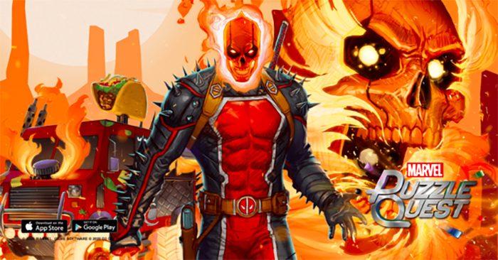 Deadpool as Ghost Rider