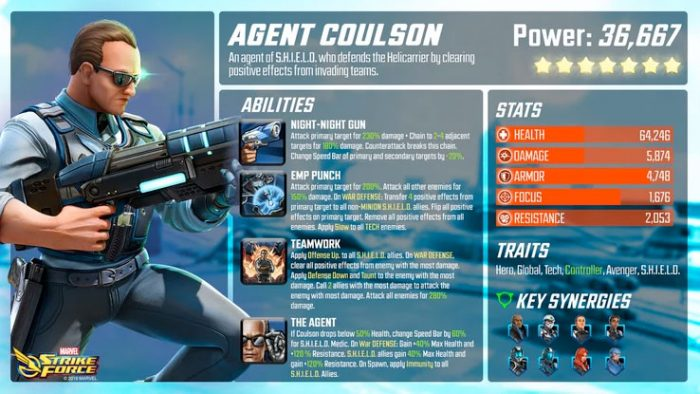 Marvel Strike Force - Agent Coulson