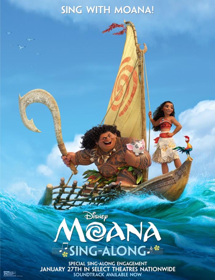 moana sing along version poster