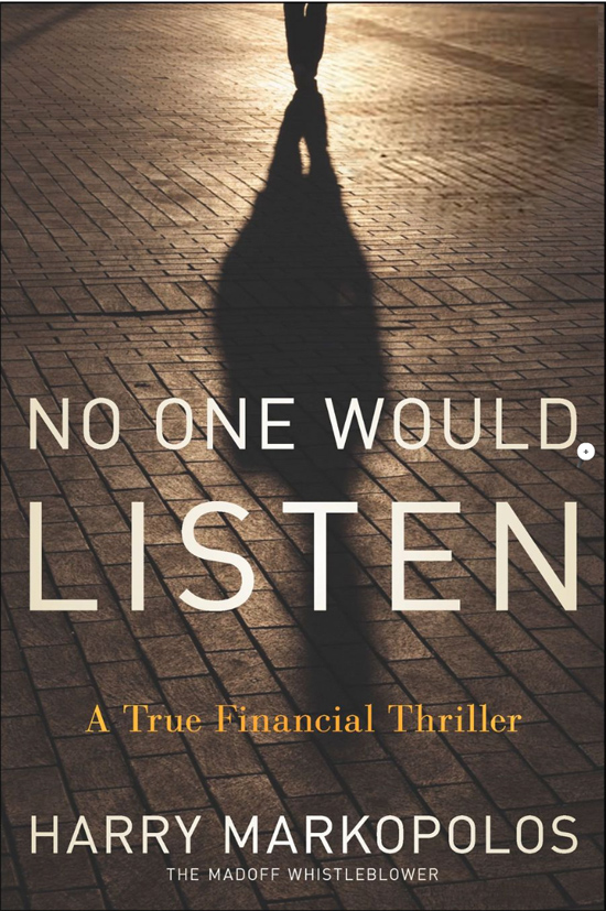 No One Would Listen Book Cover