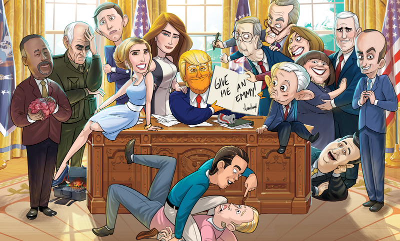 watch our cartoon presidents first episode right now