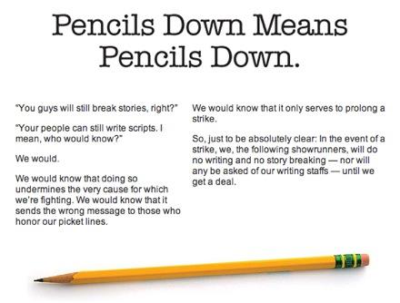 Pencils Down.