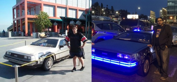 peter sciretta and the back to the future time machine