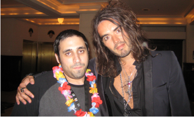 Russell Brand and Peter Sciretta