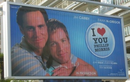 I Love You Philip Morris billboard