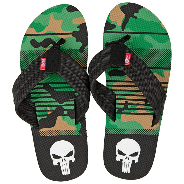 The Punisher Flip Flops