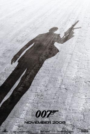 Quantum of Solace movie poster.