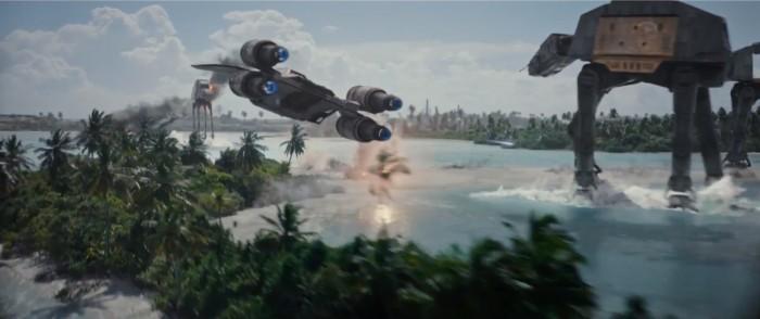 rogue one: a star wars story international trailer 2 u-wing at-at