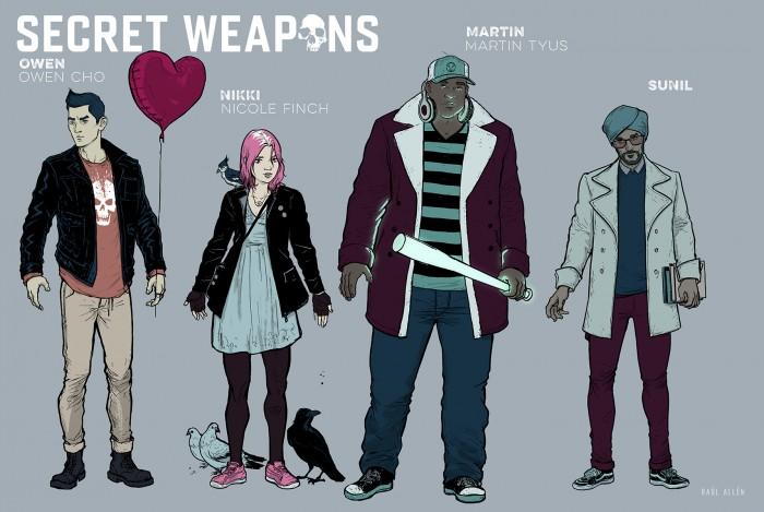 secret weapons comic characters
