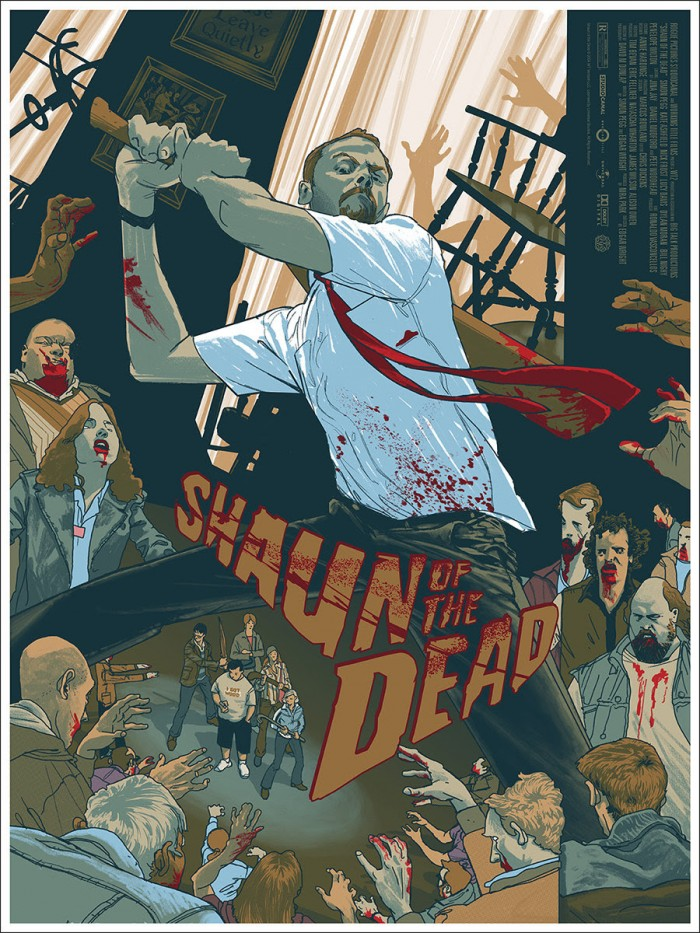 Shaun of the Dead Print by Rich Kelly