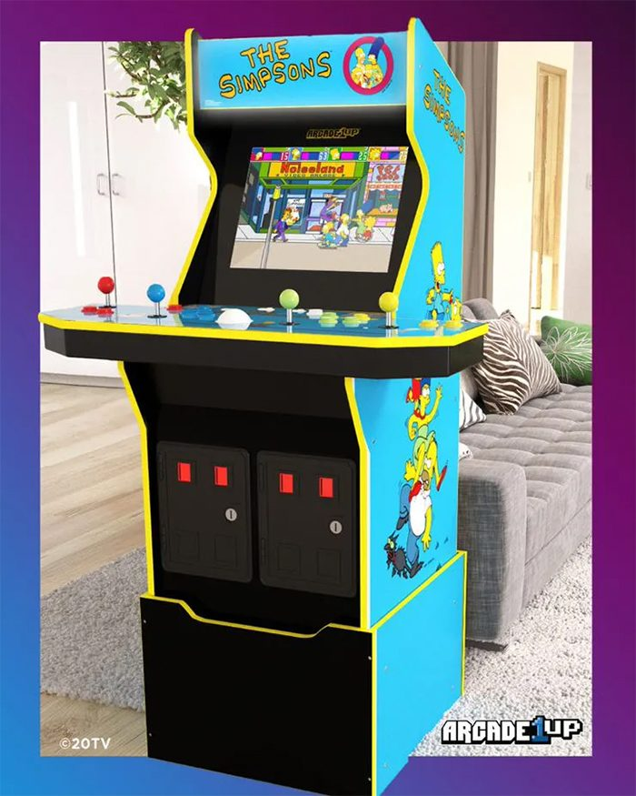 The Simpsons Arcade Cabinet from Arcade1Up