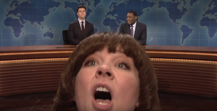 Melissa McCarthy on Saturday Night Live Weekend Update