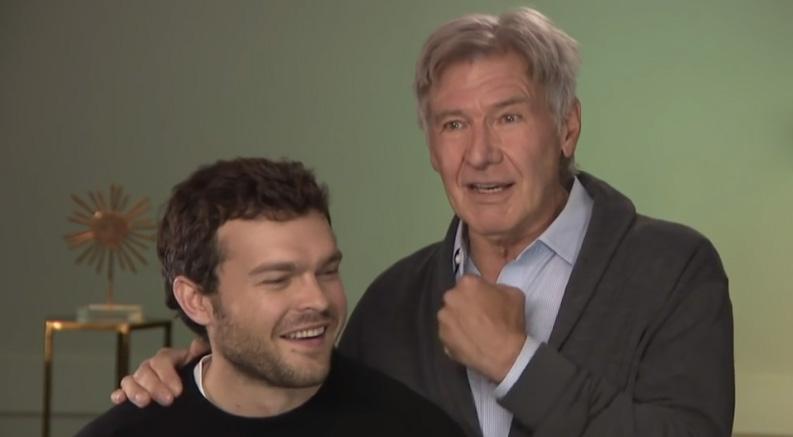 VOTD: Harrison Ford Surprises Alden Ehrenreich During 'Solo' Interview