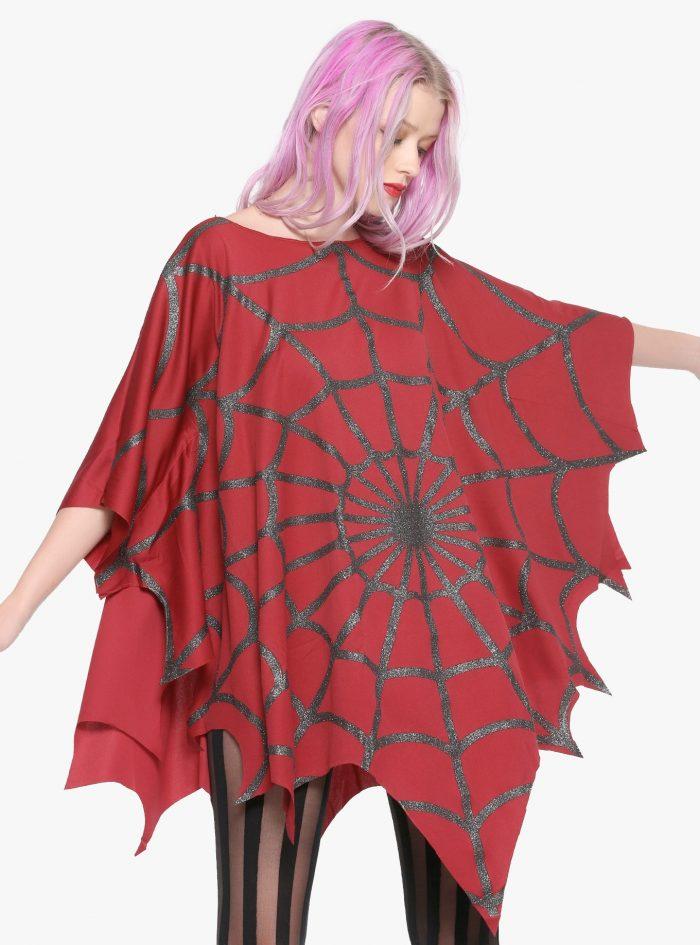 Spider-Man Red Glitter Poncho