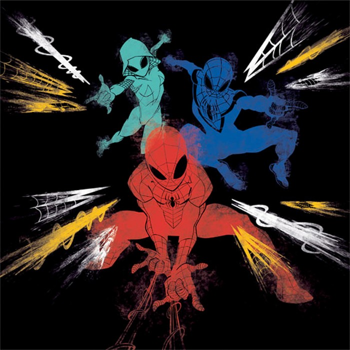 Spider-Man, Spider-Gwen and Miles Morales