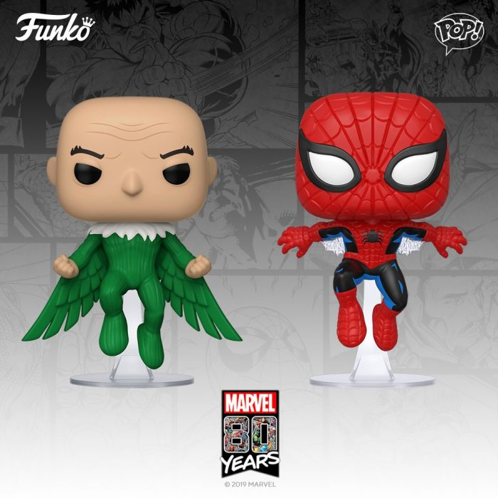 Spider-Man and Vulture Funko POPs