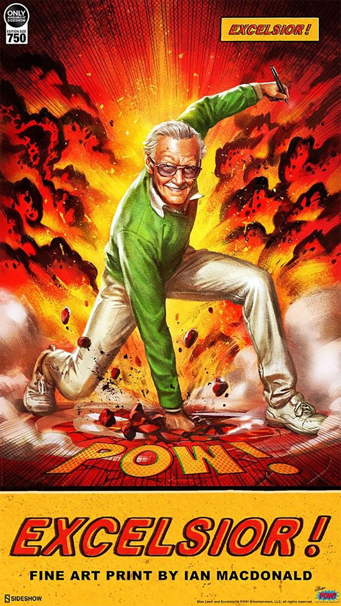 Stan Lee - Excelsior Fine Art Print from Sideshow